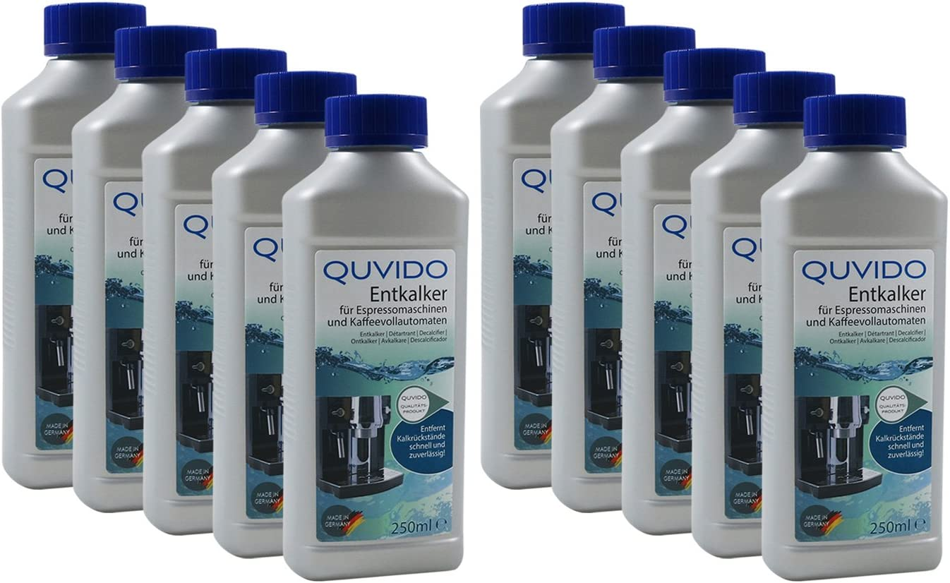 QUVIDO - Descalcificador para cafetera espresso y de café, 250 ml (10 x 250 ml): Amazon.es: Hogar