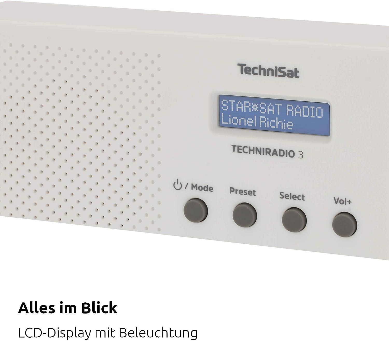 Technisat Techniradio 3 Dab Radio Dab Ukw Portabel Radiowecker Blockdesign Weiß Heimkino Tv Video