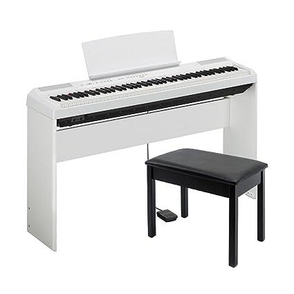 Yamaha P 115WH Bundle | 88 Keys Digital Piano With L 85 White Stand