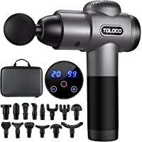 Pistola para masajes Toloco–T11 Pro, de mano, para tejido muscular profundo, masajeador corporal deportivo, taladro…