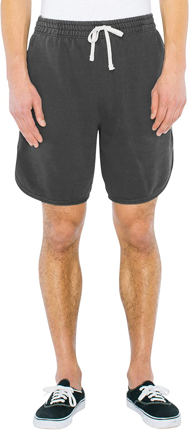 American Apparel Mens French Terry Basketball Short Casual Shorts