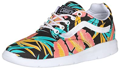 ba44a10a45 Vans Unisex Iso 1.5 Tropical Leaves Shoes-Black True White-5-Women