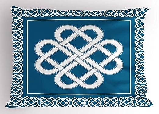 Uiowsbe - Funda de Almohada Irlandesa, diseño de Nudo Celta ...