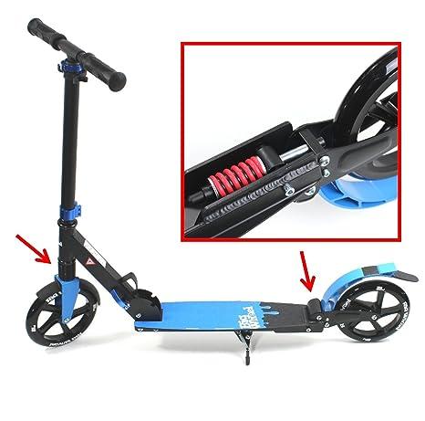 STUNT scooter KIWI OC 100mm ruedas ABEC-7 ultraestable100 kg ciclomotor Alu High End Deck