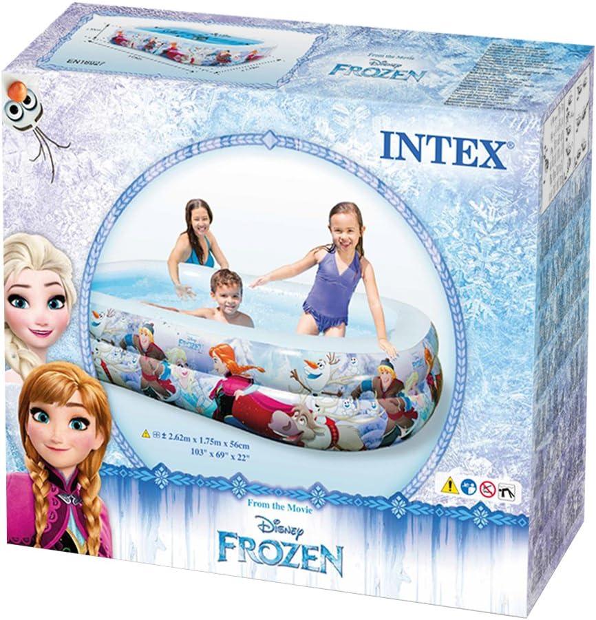Intex Frozen Piscina Hinchable, 120 Litros, Multicolor, 262x175x56 ...