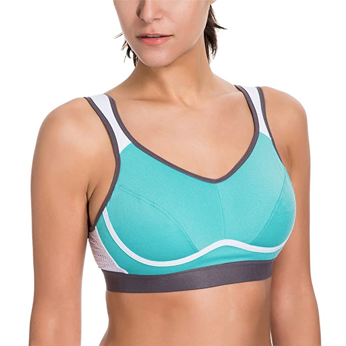 1e9865d42 JINTANG Women's High Impact Support Wire Free Racerback Bounce Control Plus  Size Workout Sports Bra: Amazon.ca: Clothing & Accessories