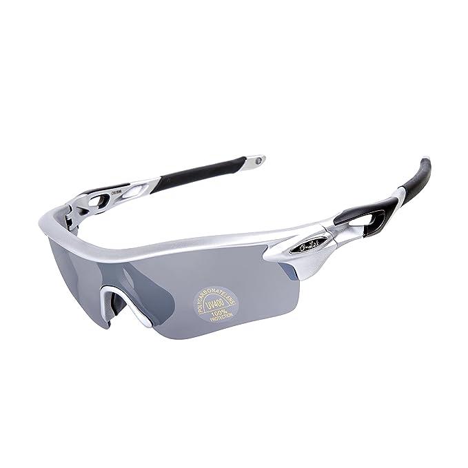 O-LET Gafas de sol deportivas para hombres Mujeres, Bicicletas de ciclismo corriendo Gafas de golf para la pesca