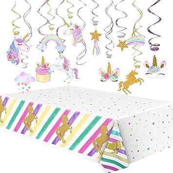 Amazon.com: Litaus Unicorn Party Decorations, Unicorn ...