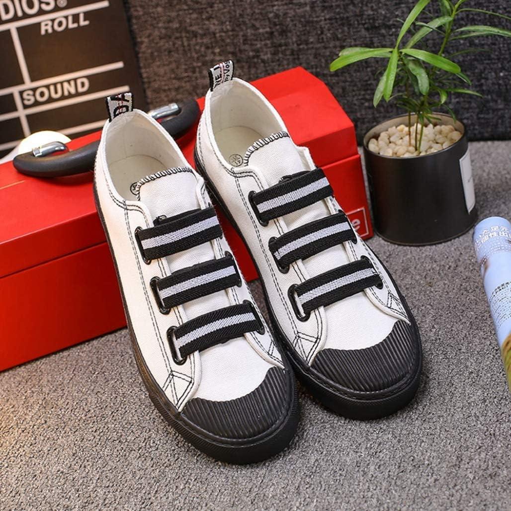 Mode féminine Sneakers D'été Mixte Couleur Bout Rond Bas Top Élastique Bande Casual Chaussures Femmes Loisirs Toile Chaussures Blanc