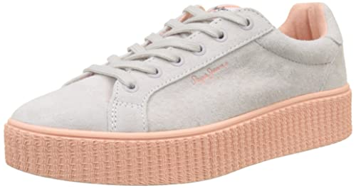 Pepe Jeans London Frida Seasons, Zapatillas Mujer, Blanco (Whitewash), 40 EU: Amazon.es: Zapatos y complementos