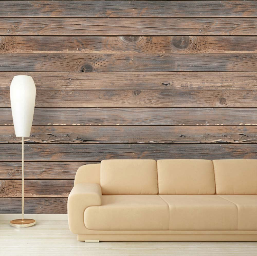 Large Wall Mural Seamless Wood Pattern Vinyl Wallpaper Removable Decorating