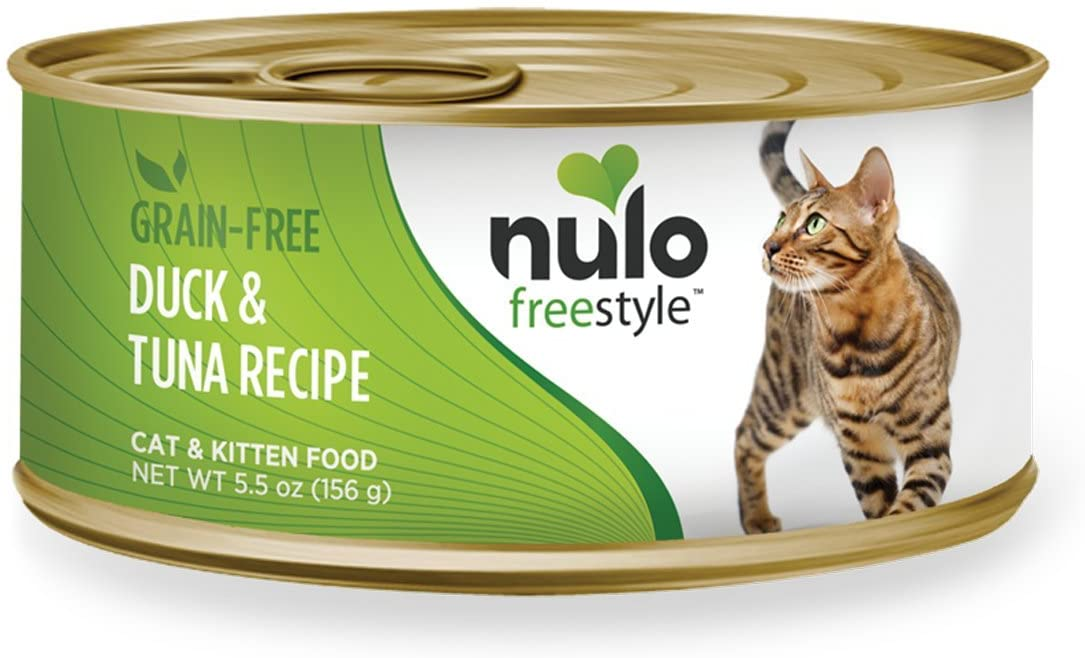 Nulo FreeStyle Grain-Free Duck & Tuna Recipe Cat Food, Case of 24 5.5-Ounce Cans (63AD05)