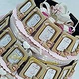 BOMBONIERE bimba femminuccia portafoto su torta culla nascita battesimo (Torta da 12 fette + centrale)