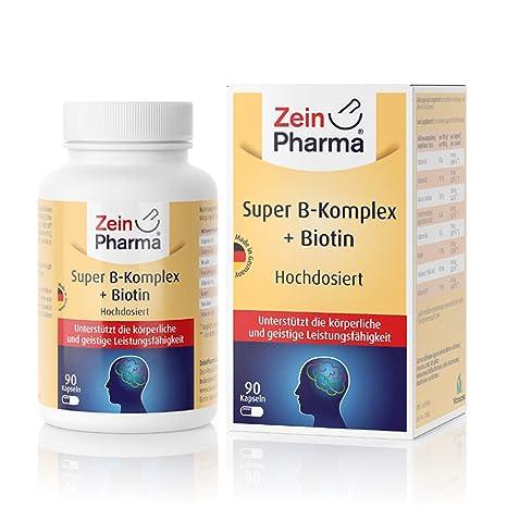 Cápsulas de Vitamina B-Complex de ZeinPharma • 90 cápsulas (3 meses de suministro