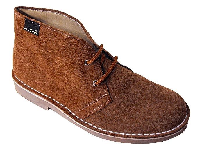 Botines de Piel de Serraje con Cordones en Color Camello. Todas Las Tallas Disponibles.: Amazon.es: Zapatos y complementos