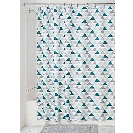 InterDesign Triangles Soft Fabric Shower Curtain 72quot X