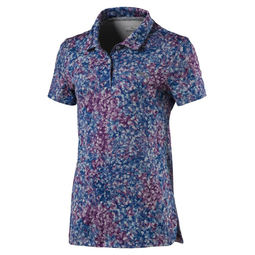 Puma Golf Girl's 2018 Floral Polo, X-Small, Majesty