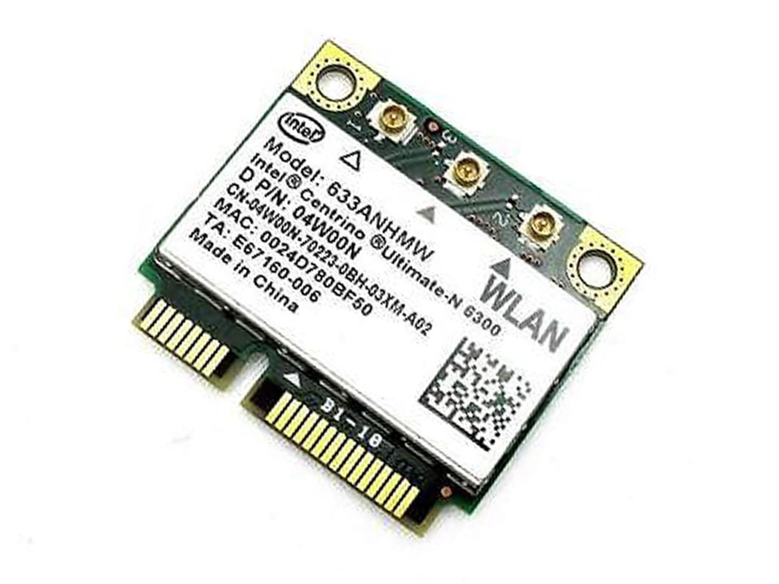 Intel 6300 633ANHMW Half Mini PCIe PCI-express 450MB Wireless WLAN Wifi Card Module 802.11 abgn by Intel