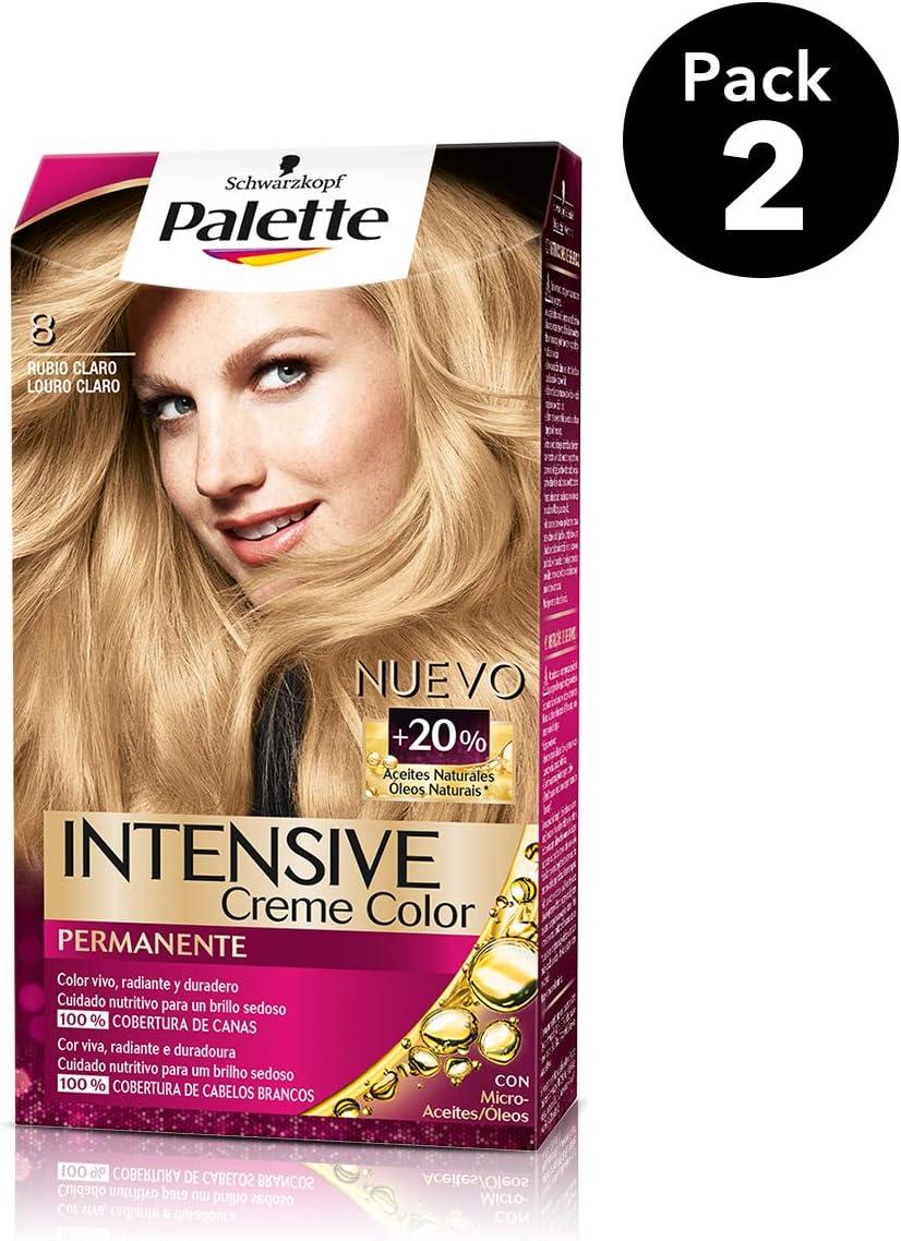 Palette Intense - Tono 8 Rubio Claro - 2 uds - Coloración ...