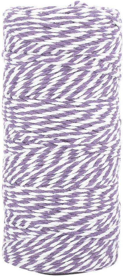 Geschenkverpackungen 100 m bunte Bindf/äden f/ür Kunstwerke Basteln Schwarz-Weiss Bilder und Verzierungen Cotton Bakers Twine