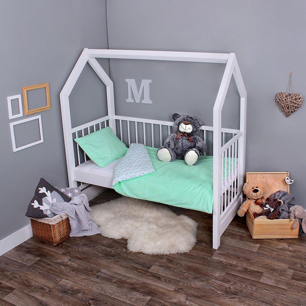 Passend f/ür Kinderbetten 70x140 cm LULANDO Bettw/äsche Kinderbettw/äsche Bettset 2-teilig Kissenbezug und Bettbezug Oberstoff 100/% Baumwolle