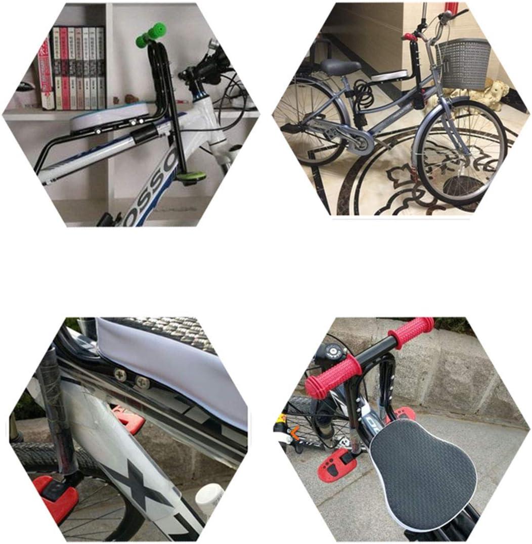 Amovible S/écurit/é Si/ège Avant Coussin de Selle avec Poign/ée et P/édale Si/ège /à Bicyclette Enfant TETAKE Si/ège de V/élo Avant pour Enfant