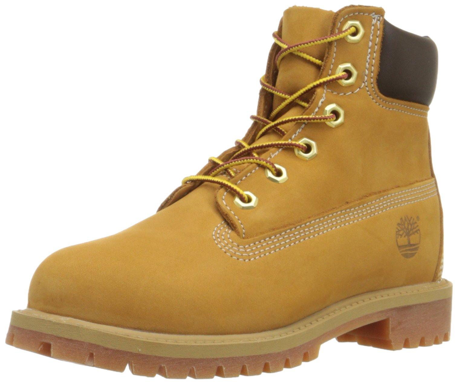 Timberland 6'' C12907 Premium Waterproof Boot,Wheat Nubuck,3.5 M US Big Kid by Timberland