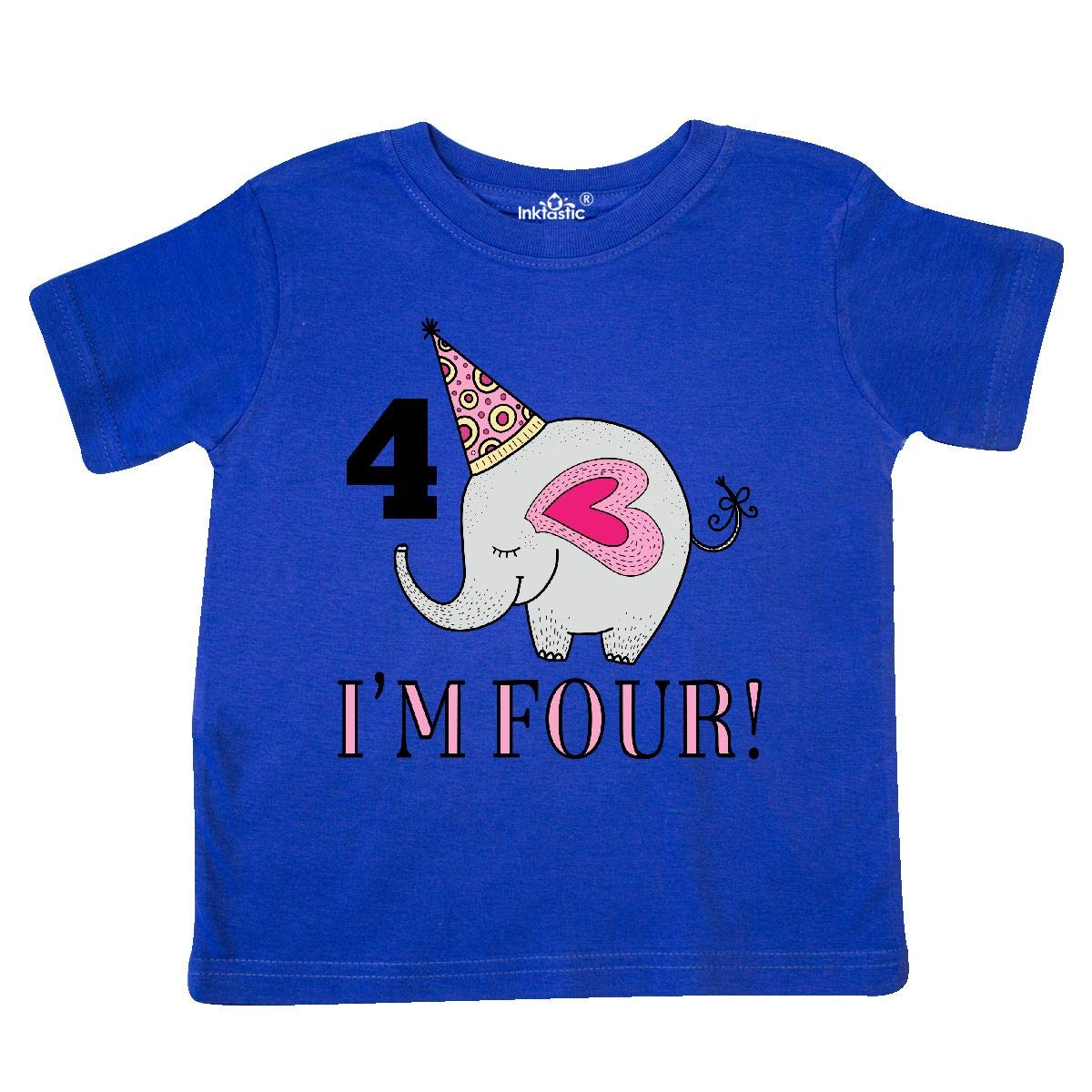 inktastic 4th Birthday Elephant Girls Toddler T-Shirt