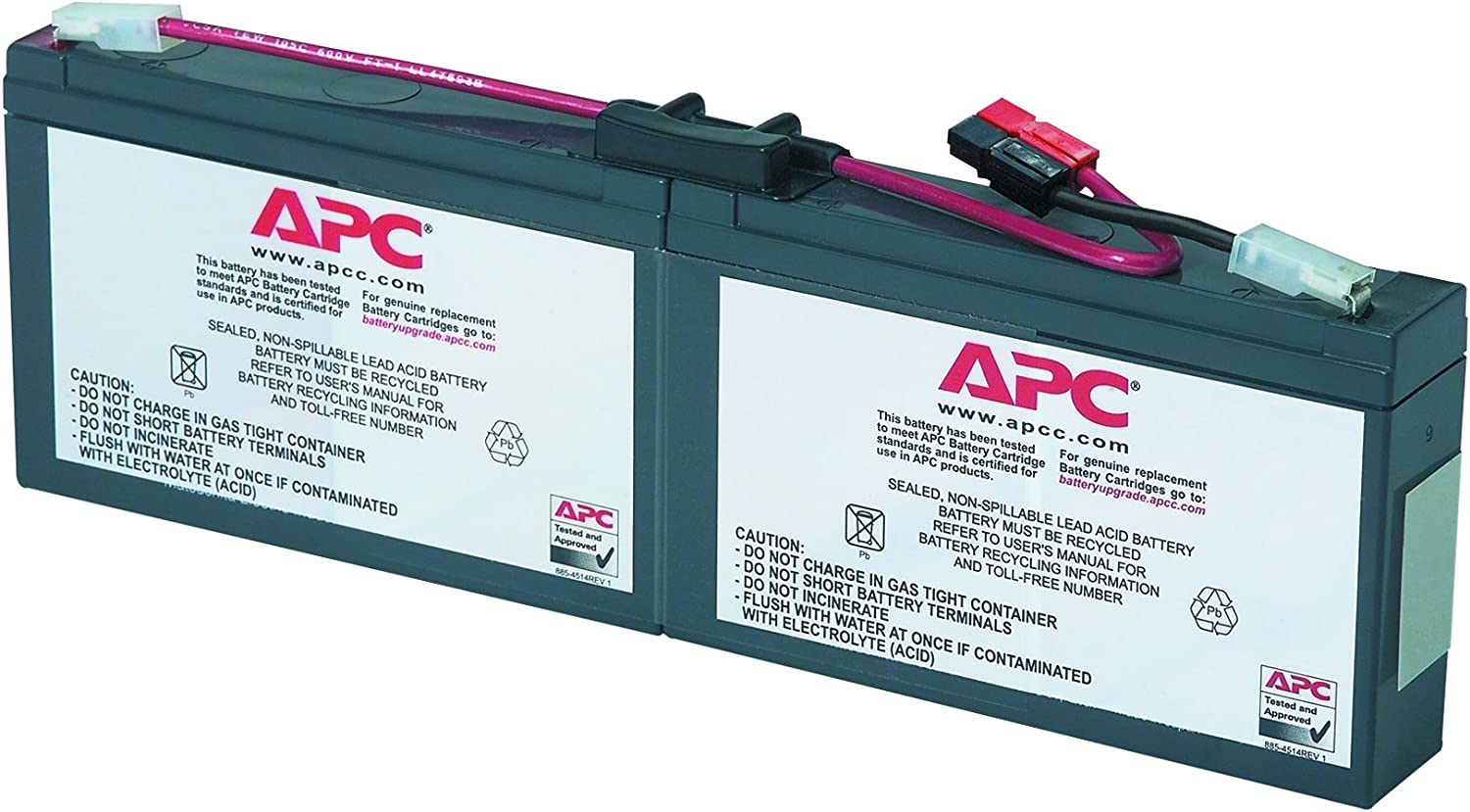 APC UPS Battery Replacement, RBC18, for APC Smart-UPS Models SC250RM1U, SC450RM1U and Select Others