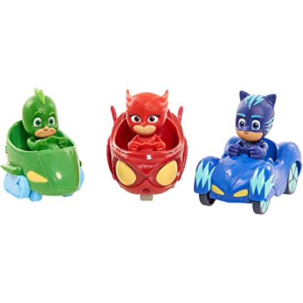 "Pj Masks Set of 3 Racers, Gekko, Owlette & Catboy ""IN STOCK&quot"