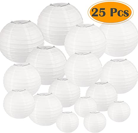 """Wedding Party Event so White w// LED Lights 14/"""" inch Chinese Paper Lantern"""