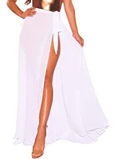 d186f3444bc Bulawoo Women s Bikini Sarong Sexy Swimwear Cover Up Sheer Wrap Maxi Beach  Skirt