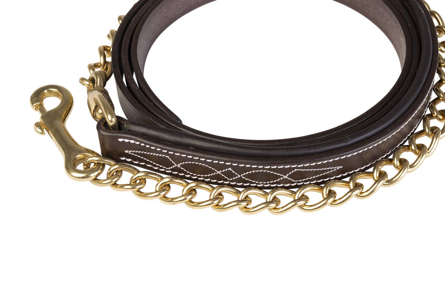 Huntley Equestrian Sedgwick Leather Lead with Chain
