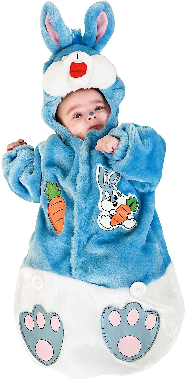 COSTUME di CARNEVALE da SACCOTTINO CONIGLIETTO vestito per neonato bambino 0-3 Mesi travestimento veneziano halloween cosplay festa party 3177 Taglia 0-3