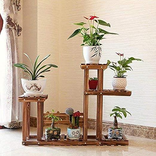 KUMOPYU Soporte De Flores Soporte De Plantas Macetas Expositor Estante-si_105x74 Cm (41x29 Pulgadas) Soporte para Macetas Maceteros Decorativos Interior Estanterias para Macetas Escalera Decorativa: Amazon.es: Jardín