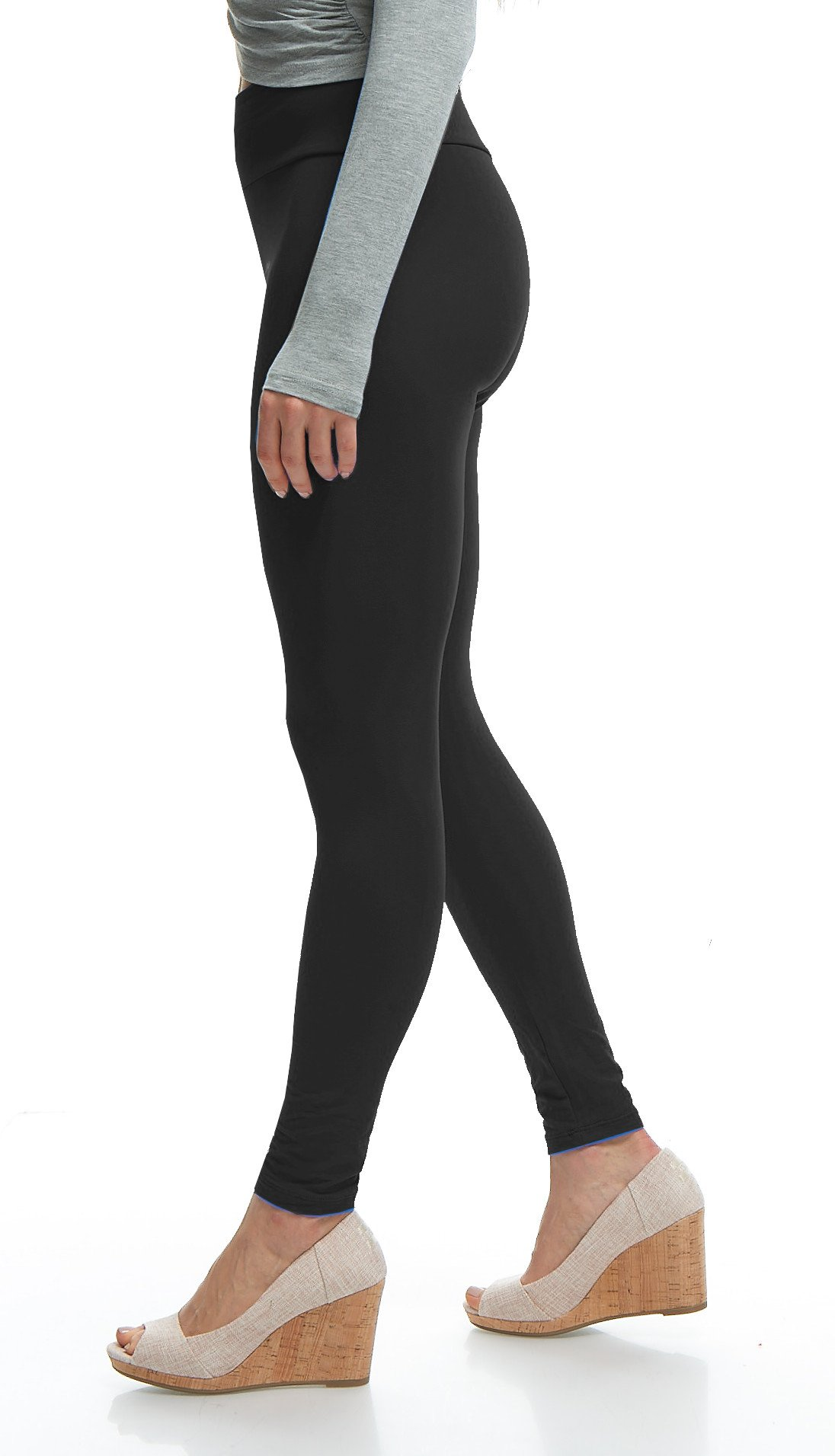 LMB Yoga Leggings Buttery Soft Material - Variety of Colors - Black by LMB (Image #4)