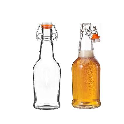 Kitchen Lux - Juego de 6 Botellas de Cerveza de Cristal con ...