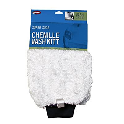 Carrand 40302 2-Sided Chenille Wash Mitt: Automotive