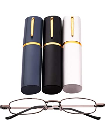 e876deef66a MT74 Pen Holder Grey Frame Compact Reading Glasses with Case with12 Lens  Strength Variations Up to
