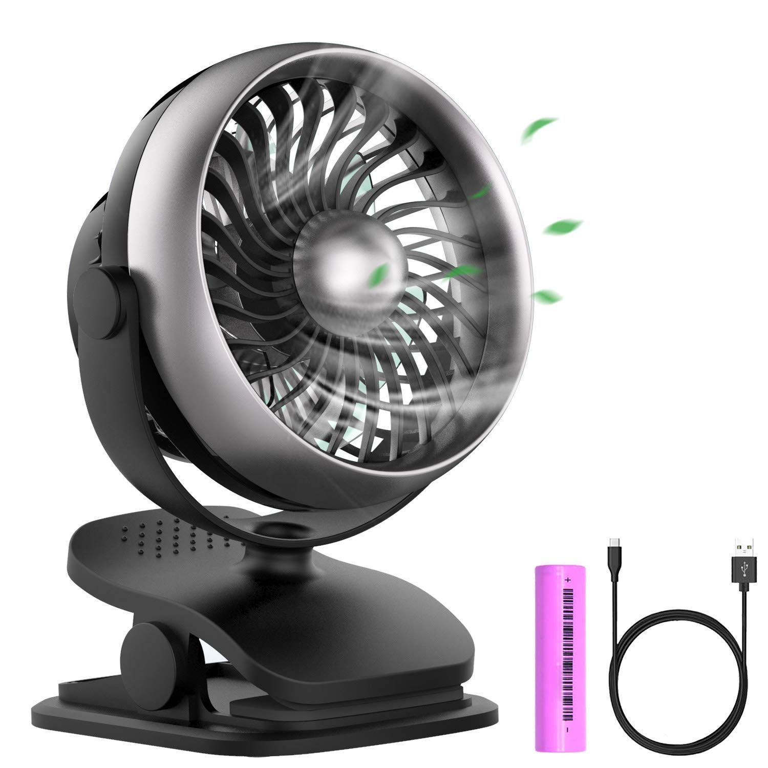 Anglink Stroller Fan, Cool Breeze Designing, Clip on Fan for Table, Office, Camping, Dorm, Baby Stroller