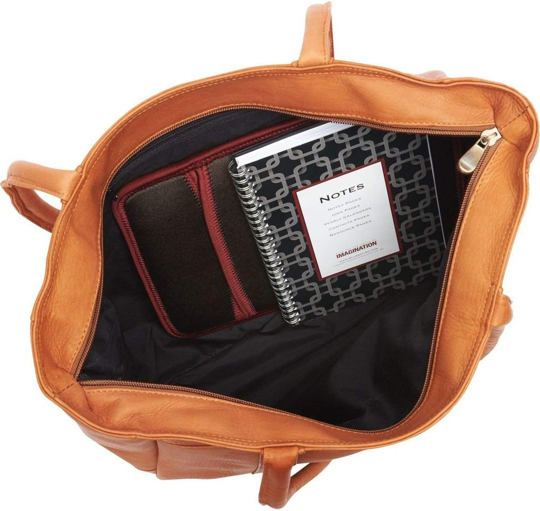 David King Leather Multi Pocket Shopping Tote in Black