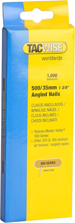 500//45mm,1.000 St/ück pro Verpackung Tacwise 0484 N/ägel Gewinkelt Verzinkt