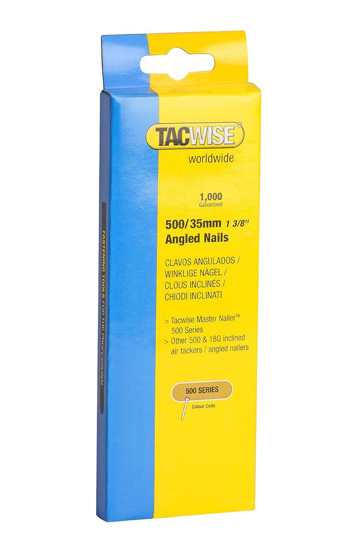 Tacwise 0482 Clavos inclinados de tipo 500//35 mm 35 mm Set de 1000 Piezas