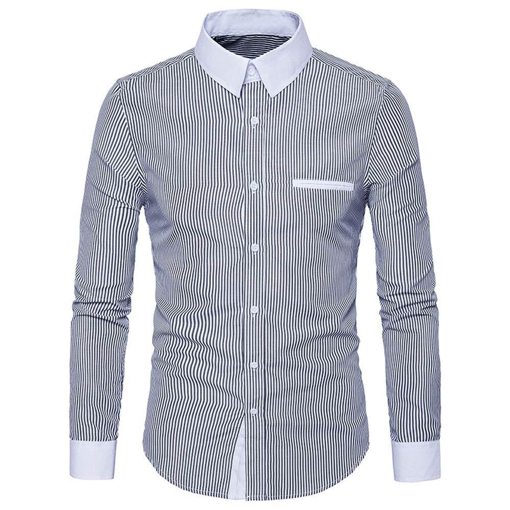 Bestow Camisa de Manga Larga para Hombre Camisa de Manga Larga Casual Camisa de Manga Larga para Hombre: Amazon.es: Ropa y accesorios