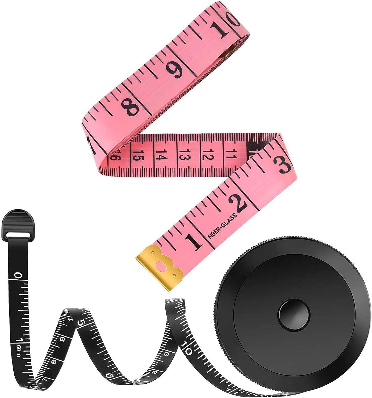 2 Pcs Tape Measure Sewing,PPpanda for Body Tailors Measure...