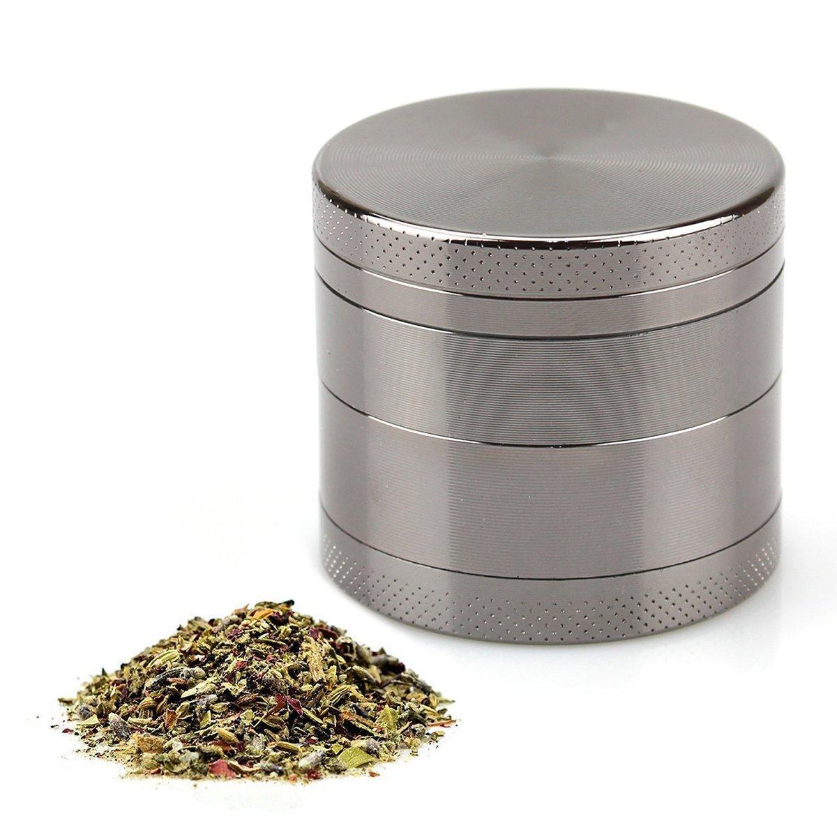 4Piece Tobacco Spice Herb Grinder/Mill–Zinc Alloy Naisidier