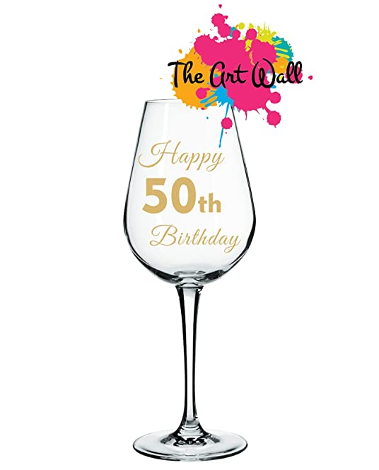 Happy Th Birthday Personalised Names For Wine Glass Vinyl - Vinyl decals for wine glasses uk