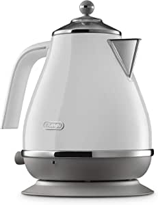 De'Longhi Icona Capitals Electric Kettle, White, KBOC2001W