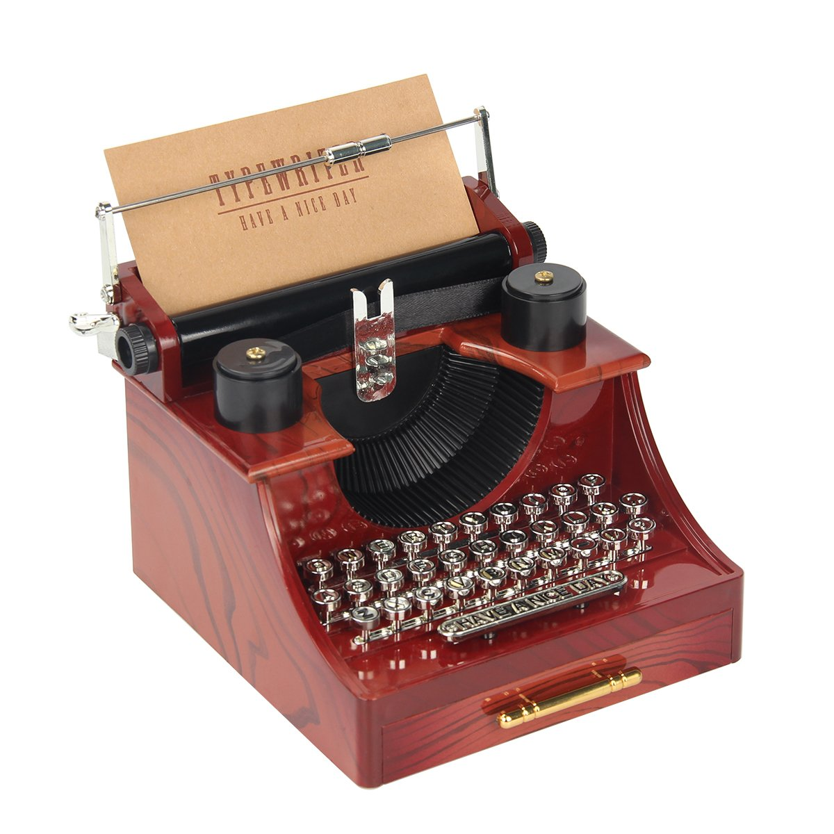 Kitchnexus Mini Cassetta Musica Vintage Simulazione Macchina da Cucire e Macchina da Scrivere Vintage Machine À Écrire