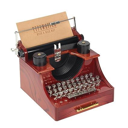 kitchnexus Mini caja de música Vintage Simulation máquina de coser y máquina de escribir retro